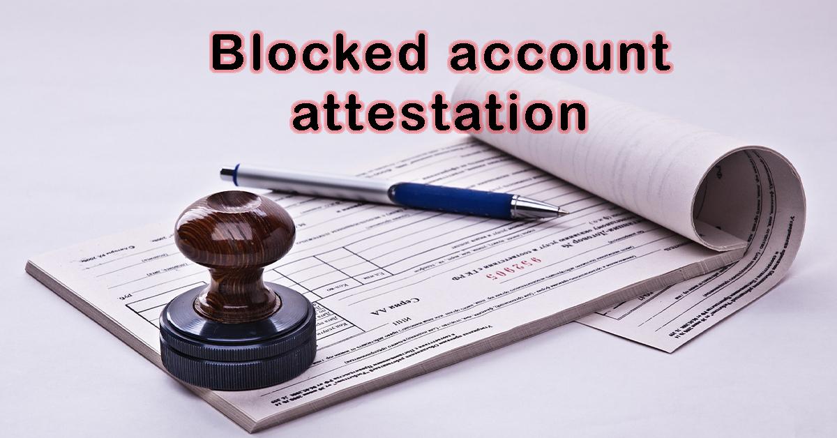 Blocked account attestation