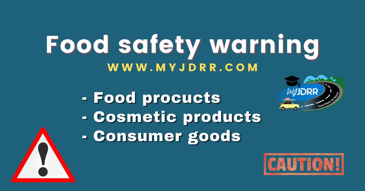 Food safety warning - Lebensmittelwarnung
