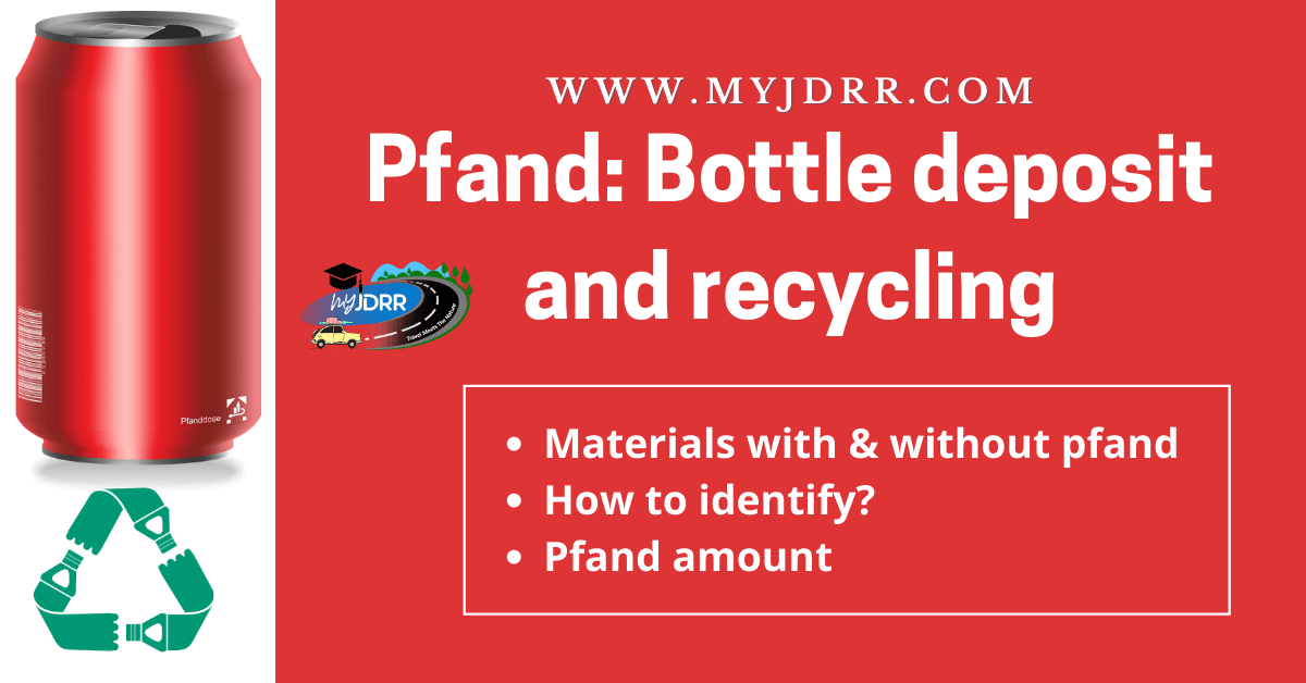 Pfand - Bottle deposit and recycling - Save money