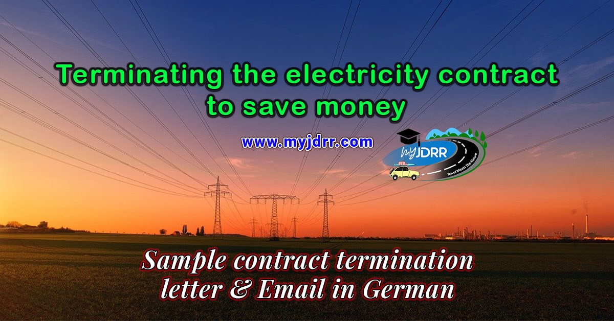 Terminating the electricity contract periodically to save money