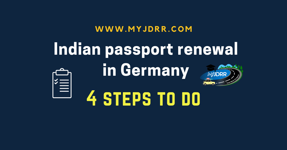 4 simple steps to renew an Indian passport in Germany