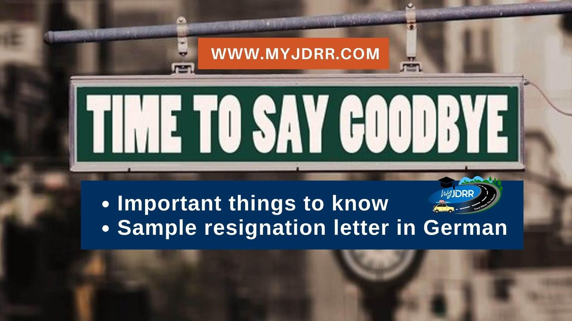 Job resignation in Germany